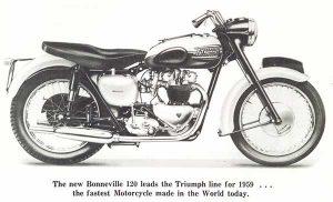 Vintage Triumph Bonneville T120